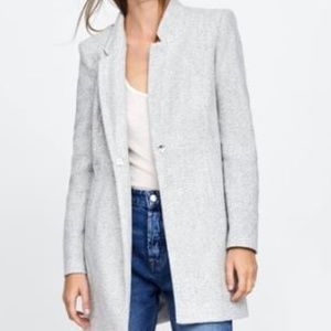 NWT Zara Inverted lapel collar frock coat
